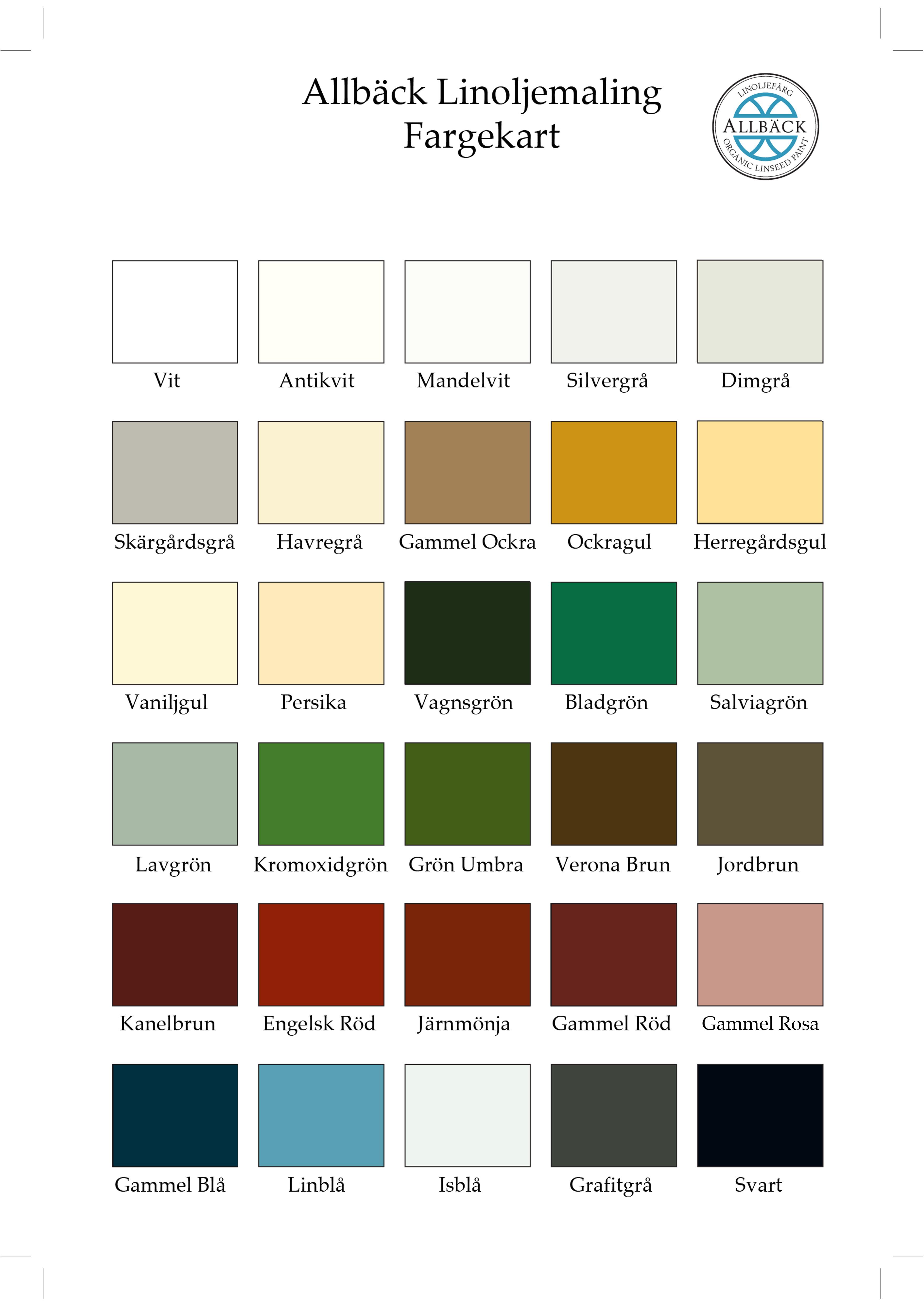 Maling fargekart